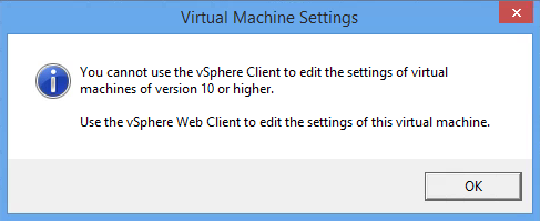 That pesky vSphere Client Warning Message