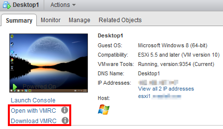 New VMRC Options in vCenter