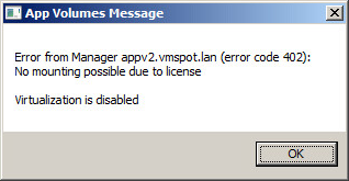 App_Volumes_License_Error