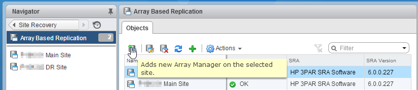 Add Array Manager