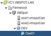 New VM deployed in pool